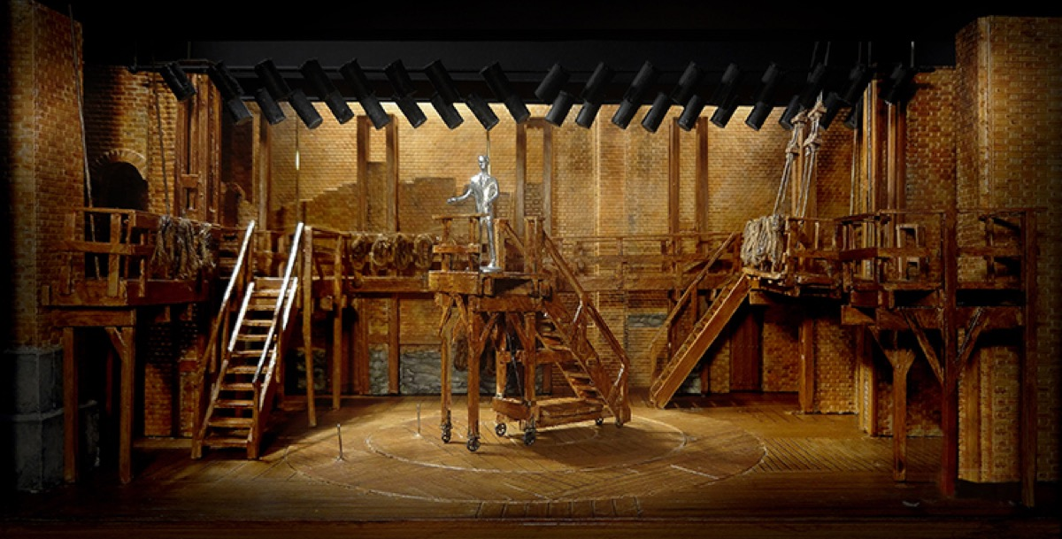 A model of the set for Hamilton