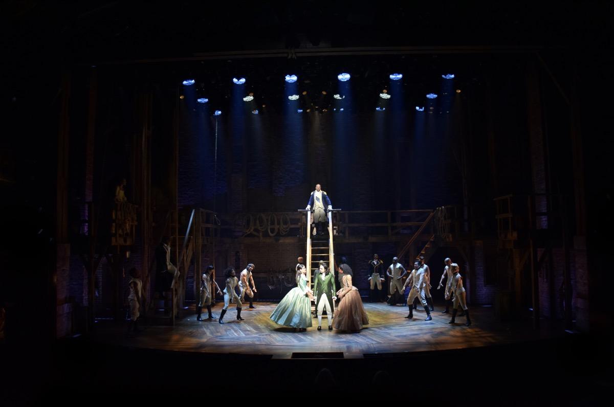 The staircase set piece for Hamilton