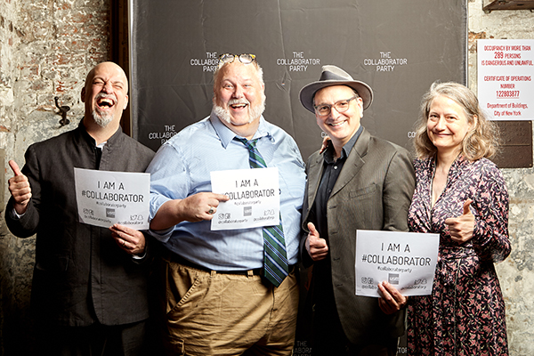 Collaborator Party Co-Hosts Lindsay Jones, Jay Duckworth, John Gromada and Barbara Cohig.