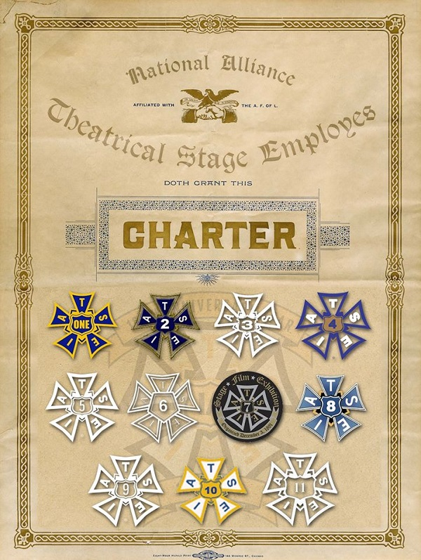 The original charter of The National Alliance of Theatrical Stage Employees