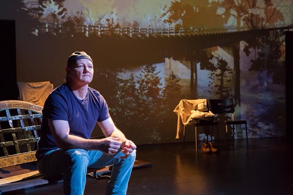 "J.A. Moad II, in ""Outside Paducah - the Wars at Home"" that received two NYIT nominations, Outstanding Innovative Design - Lisa Renkel for her projection design and J.A. Moad II for Outstanding Solo Performance."