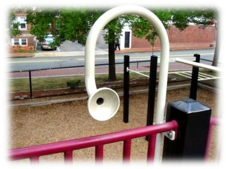 Speaking tube on a playground