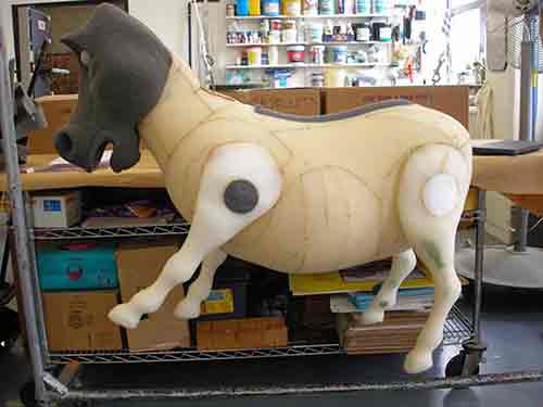 Donkey during fabrication