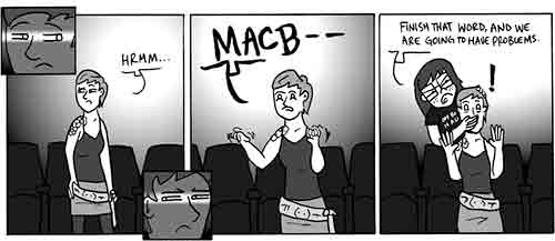 Q2Q Comics - Superstitious  Written and Drawn by Steve Younkins