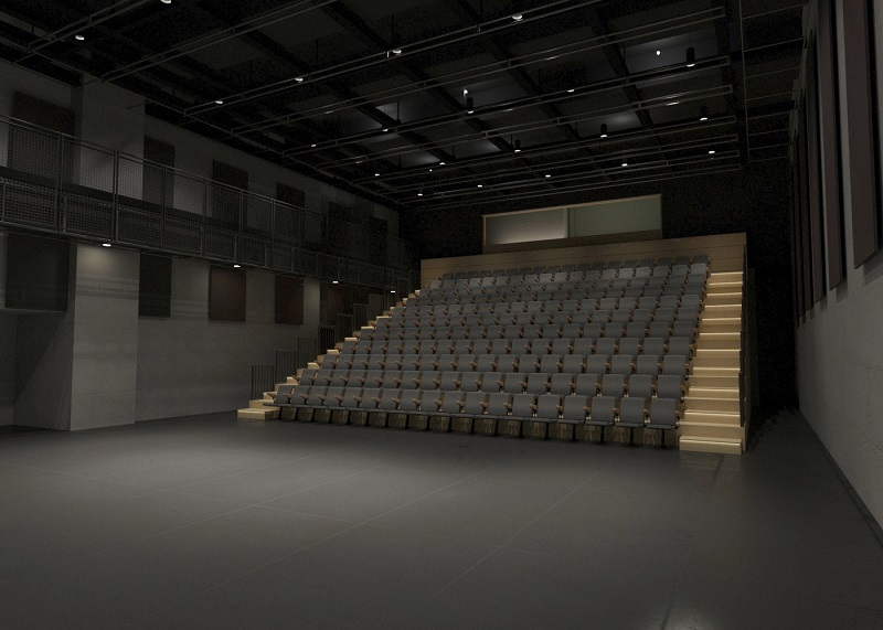 Rendering of the interior of a theater at the Victoria. Credit: Kostow Greenwood Architects