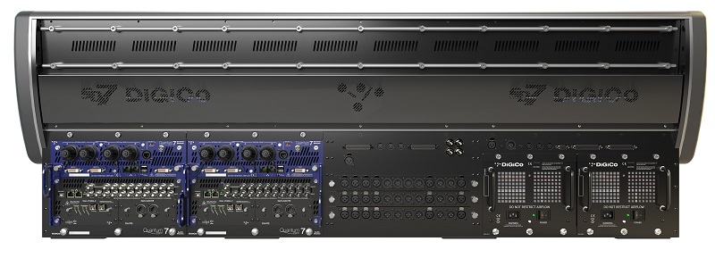 The rear view of the DiGiCo SD7 Quantum