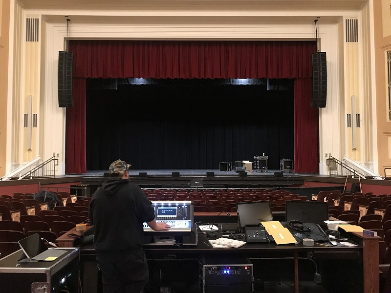 The Arts and Sciences Auditorium at the University of Wyoming is home to a new L-Acoustics Kara system and DiGiCo S31 desk installed by Brown Note Productions