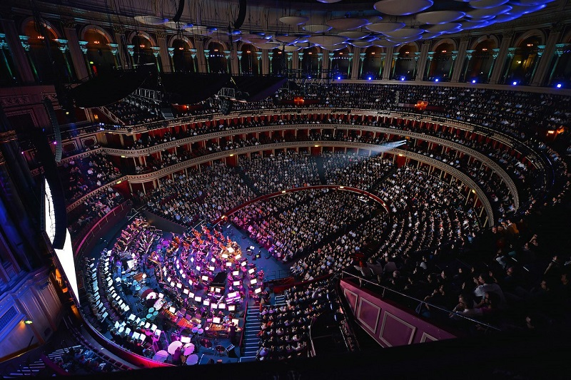 Royal Albert Hall gets used for a variety of renowned events. Pictured here, the BBC Concert Orchestra performs with the Maida Vale Singers conducted by John Mauceri, performing Danny Elfman's music from the films of Tim Burton.
