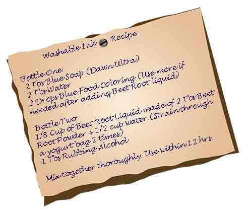 Syracuse Stage's Washable Ink Recipe