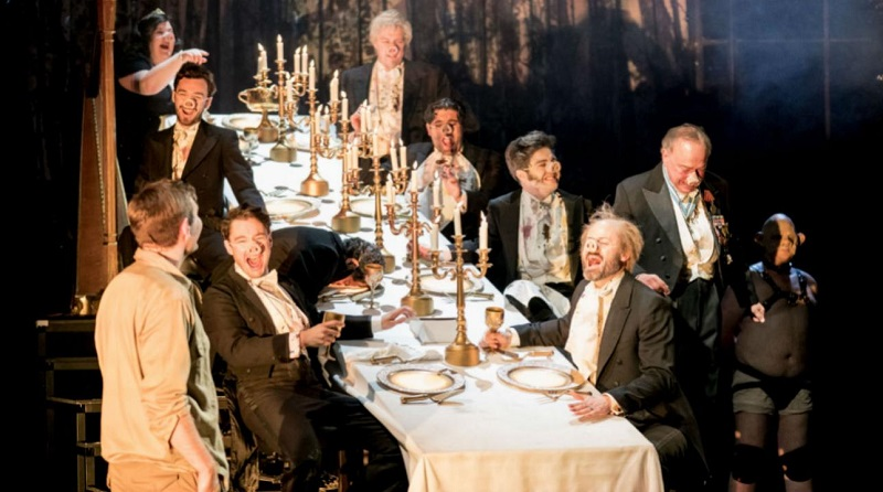 A scene from Peter Gynt at The National Theatre. Photo by Manuel Harlan