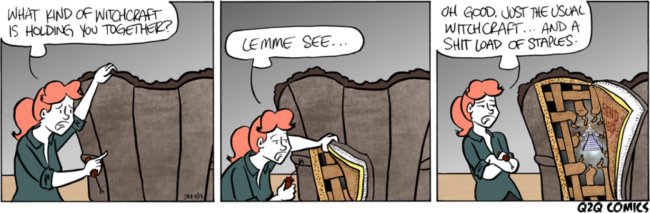 Q2Q Comics #380: UPHOLSTERY WITCHCRAFT