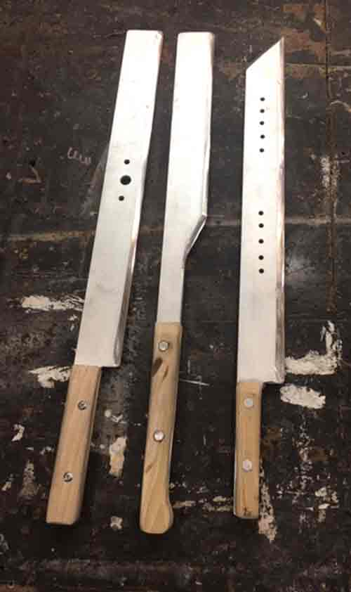 Aluminum blades with handles attached