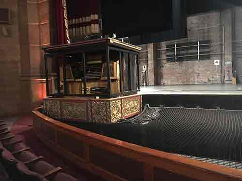 Pit Net with hatch for the organ at Atlanta's Fox Theatre
