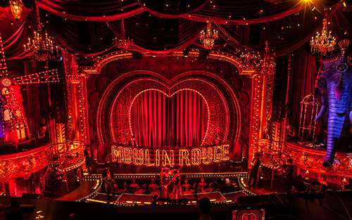 The Broadway musical Moulin Rouge!