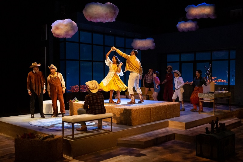 A scene set in Bohemia in The Winters Tale at the Alley Theatre. Photographer Lynn Lane