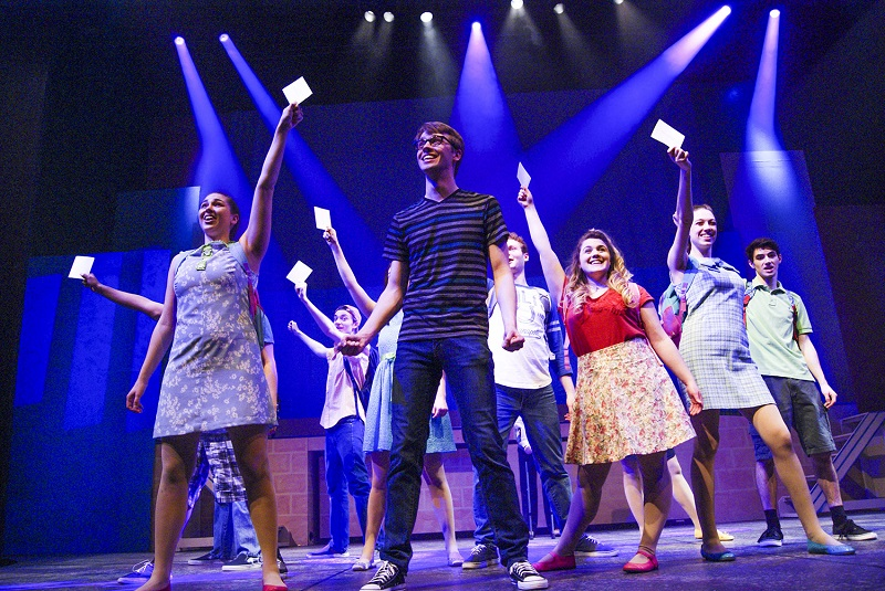 A scene from the production of 13: The Musical at Lewis University in Illinois