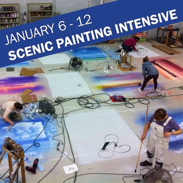 Goodspeed is offering a Scenic Painting Intensive January 6 - 12, 2020