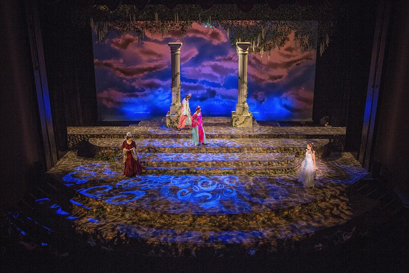 The production of Ella Enchanted at Samford University Theatre where the school first used its new Pliant CrewCom intercom system for the crew