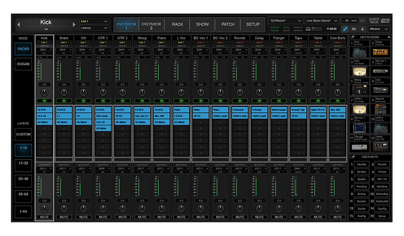 Waves SuperRack, the next generation of plugin processing software for live sound engineers