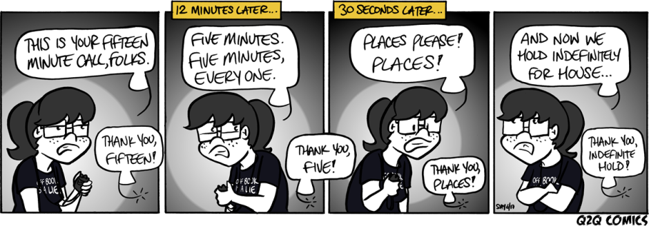 From Q2Q Comics, #392: TIME CALLS