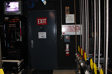 All marked exits need to be completely free from obstruction.
