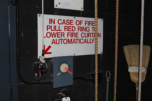 Stage managers should know when to lower the fire curtain.