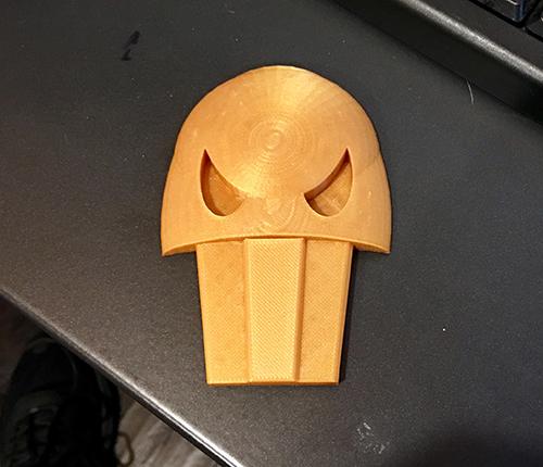 3D-printed Hades skull pin for Hercules