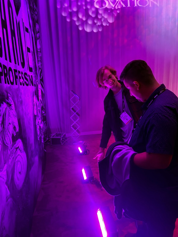 The Ovation area of the award-winning CHAUVET Professional booth at LDI 2019