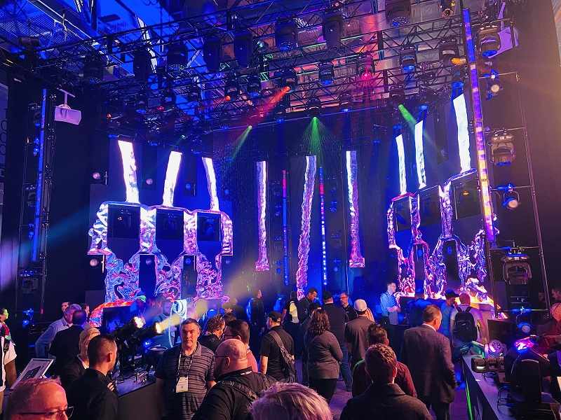 A look at the crowds in the CHAUVET Professional booth at LDI 2019