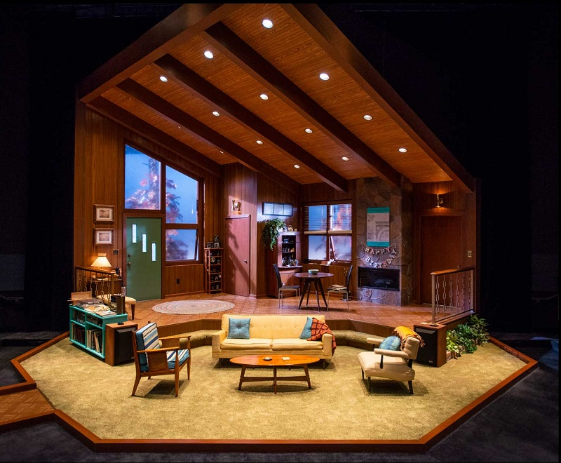 The set for The Nerd at The Milwaukee Rep, designed by Arnel V. Sancianco