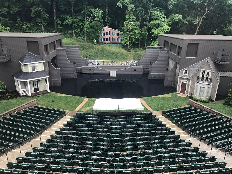 A view from the rear of the house of the J. Dan Talbott Amphitheatre in My Old Kentucky Home State Park, which has been staging The Stephen Foster Story since 1959
