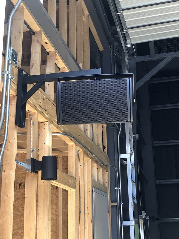 A detail from the new sound system for The Stephen Foster Story in Bardstown, KY