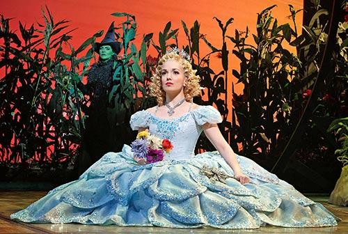 Glinda and Elphaba in Wicked (photo: Joan Marcus)