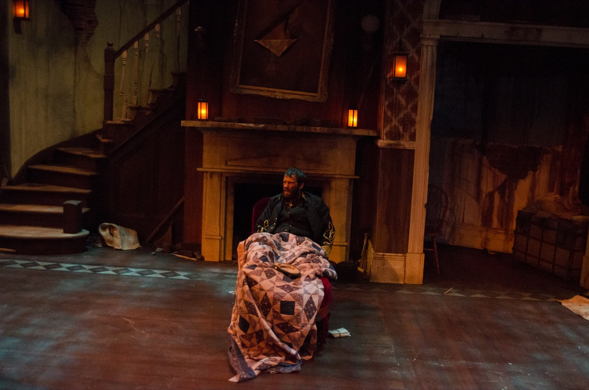 """For a production of The Whipping Man at the Omaha Community Playhouse, Darrin Kuehler made LED """"lanterns"""" that were dimmed using RC4 Wireless dimmers."""