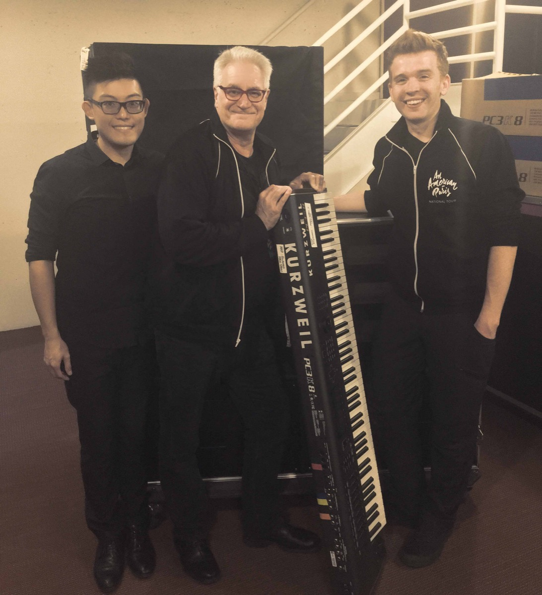 (L-R) Ray Wong, Henry Palkes and Brad Gardner with the Kurzweil PC3K8 Keyboard
