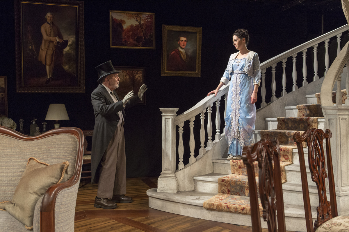 A moment from A Picture of Autumn at The Mint Theatre, with sound design by Jane Shaw