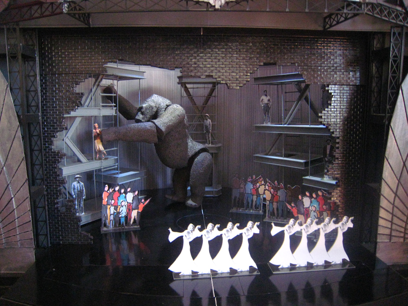 Set Model of Kong breaking out of Times Square Theatre