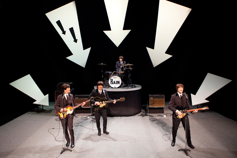 The Beatles have been a throughline for Jacob's career. In addition to working their last concert at Candlestick Park, and his ground-breaking work on Sgt. Pepper's Lonely Hearts Club Band on the Road he worked on the Broadway productions of Beatlemania and Rain: A Tribute to the Beatles, a moment from which is shown here.