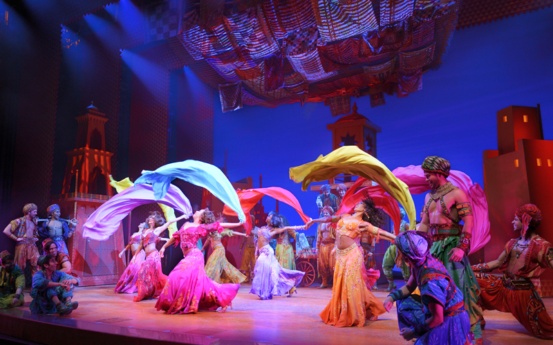 Marketplace dancers in the Broadway production of Disney's Aladdin