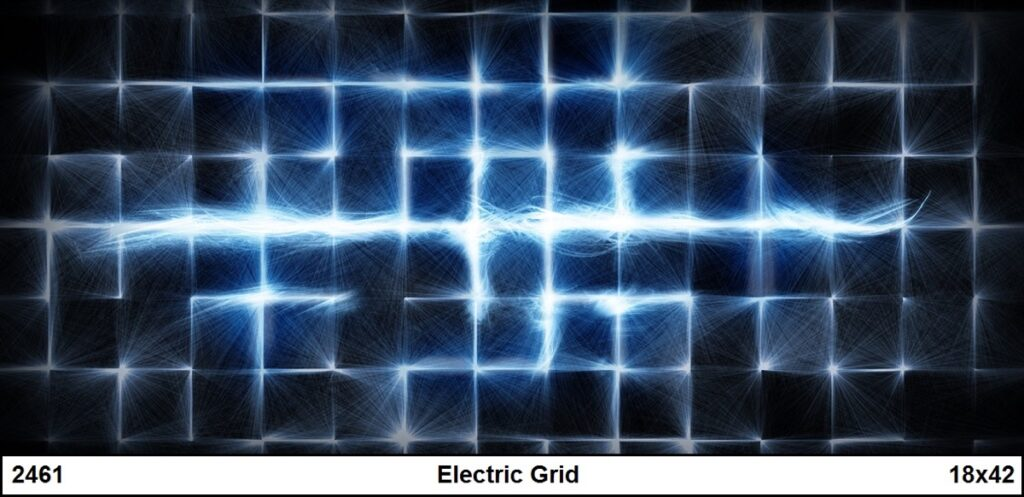 The Electric Grid backdrop from Charles H. Stewart Backdrops.