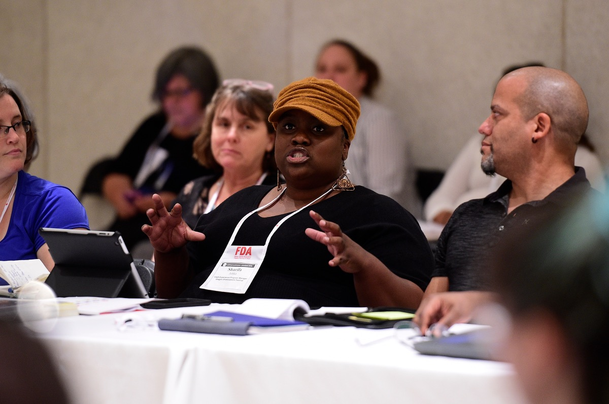 Sharifa Johka speaks at the 2015 TCG National Conference in Cleveland.