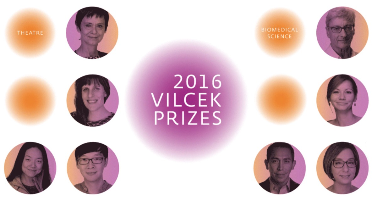 The winners of the 2016 Vilcek Prizes in arts and sciences