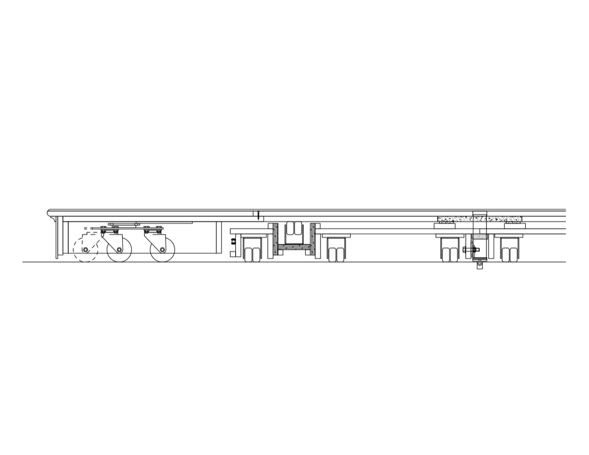 A section of the front (rotating) wagon.