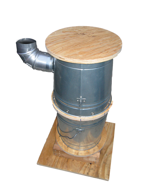 The assembled pot belly stove before painting.