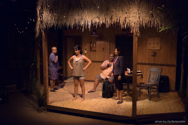 Bloodletting at Playwrights' Arena. Director: Jon Lawrence Rivera. Set: Christopher Scott Murillo. Costumes: Mylette Nora. Lighting: Lily Bartenstein. Sound: Howard Ho. Photo Credit: Lily Bartenstein.
