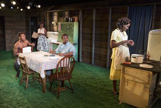 """Too Heavy for Your Pocket"" World Premiere by Jiréh Breon Holder Directed by Margot Bordelon Scenic Design by Reid Thompson Costume Design by Valérie Thérèse Bart Lighting Design by Ji-youn Chang Sound Design by Ian Scot Photo by Joan Marcus Roundabout Theatre"