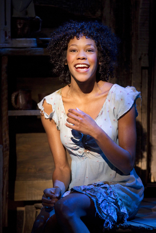 Nikki M. James as Nabulungi in The Book of Mormon.