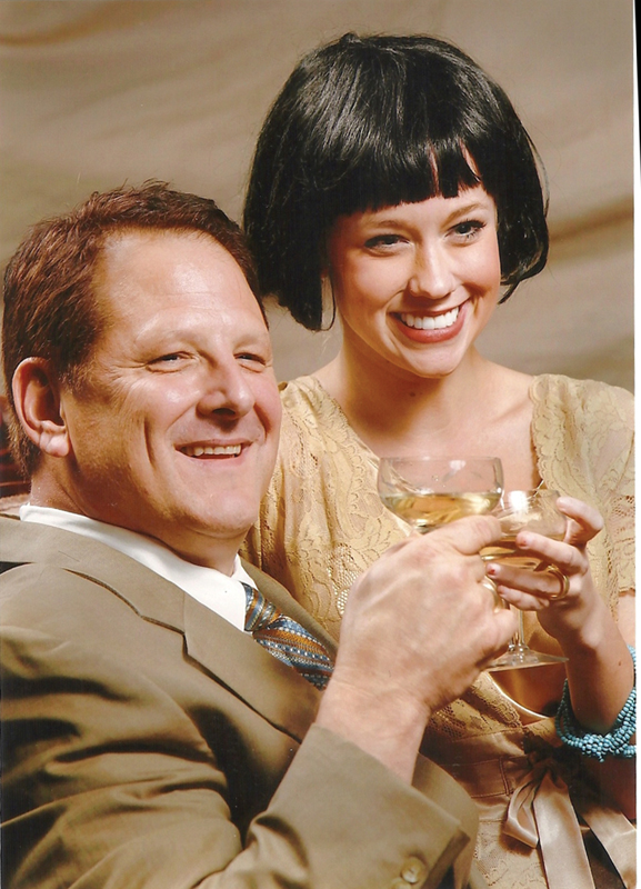 Lydie Marland (Katie Lloyd) with oil baron husband E.W. Marland (Jeff Perkins), who was once her adopted stepfather in the Jewel Box Theatre world premiere of The Broken Statue, by Oklahoma author Bob Perry.