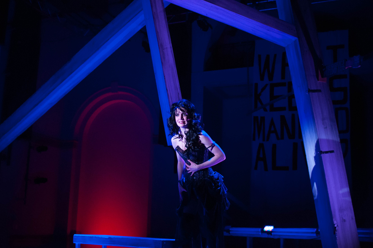 Nick Solyom designed this look for The Threepenny Opera when he was the 2010-211 Resident Lighting Designer for Brown University/Trinity Repertory Company.