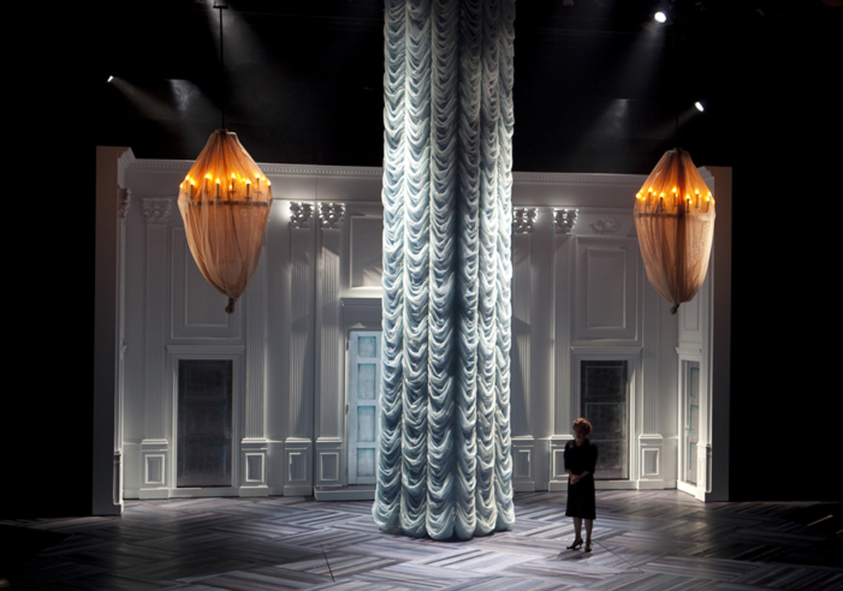 A moment from The Winter's Tale at the Guthrie Theatre, with lighting design by Philip Rosenberg.
